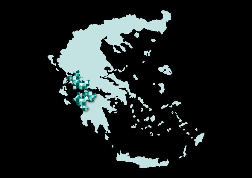 Western Greece map